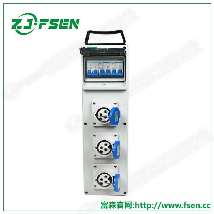 条形工业插座箱 配电检修箱 IP65移动电源箱