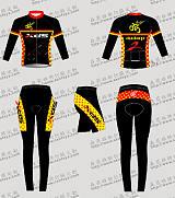 森菲雅骑行服套装长袖春夏季秋冬男女自行车山地车装备上衣裤子服装定制;