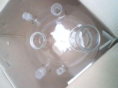 郑州双层玻璃反应釜夹层玻璃反应器50L 高硼硅玻璃材质 现货;