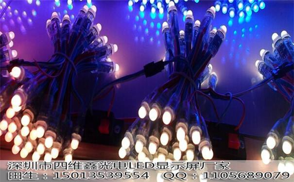 LED全彩外露发光字穿孔灯串;