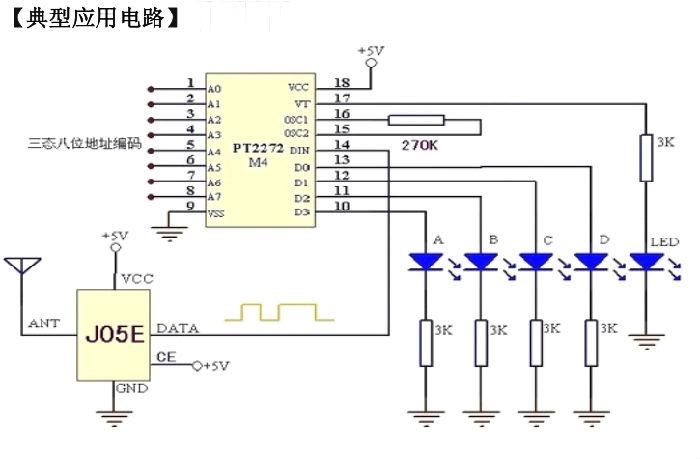输出零电平,无杂波输出 接收模块 J05E;