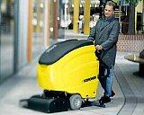 工厂车间水泥地面保洁凯驰电瓶式洗地机BD750;
