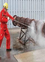 卧式换热器铜管疏通清洗工业级高压冷水清洗机FS18/28;