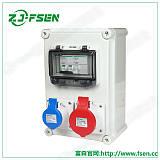 航空插座箱多功能帶漏電排插箱便攜式移動電源箱;