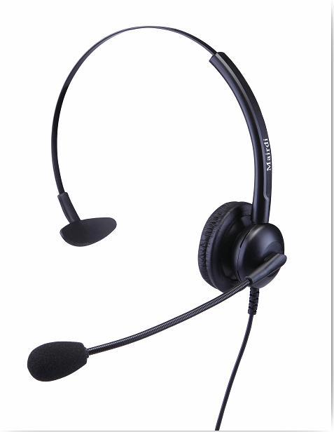 供应麦尔迪超强抗噪呼叫中心专用话务耳机;