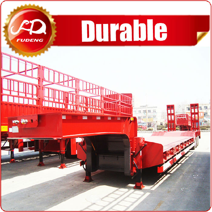 3 axles 60T low bed trailer sale;