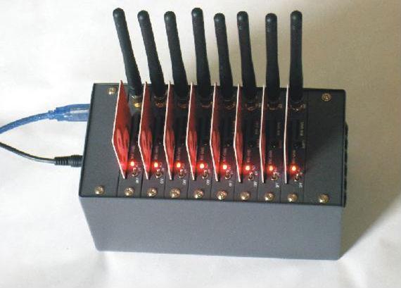 8口电信猫池 八口电信CDMA2000猫池厂家批发;