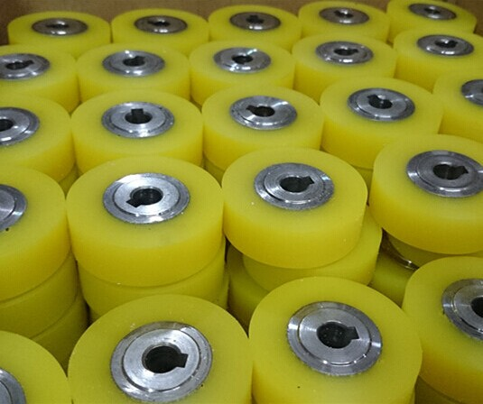 江西南昌输送设备用聚氨酯包胶胶轮,胶轮包胶加工;