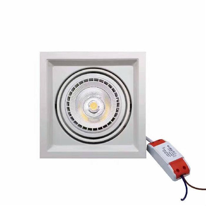 LED天花格栅灯AR111单头面径16.5cm*16.5cm功率12W-20W;