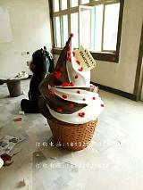 冰淇淋雕塑,玻璃钢仿真雕塑