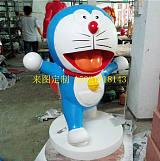 供应玻璃钢叮当猫雕塑公园主题彩绘雕塑设计摆件景观小品雕塑摆件;