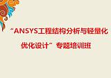 """""""ANSYS工程结构分析与轻量化优化设计""""专题培训班;"""