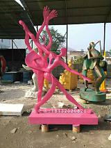芭蕾舞者雕塑,玻璃钢抽象人物