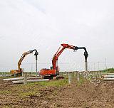 打太阳能光伏水泥桩、打光伏水泥桩、打太阳能光伏预制管桩;