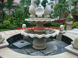石雕喷泉水钵厂家;