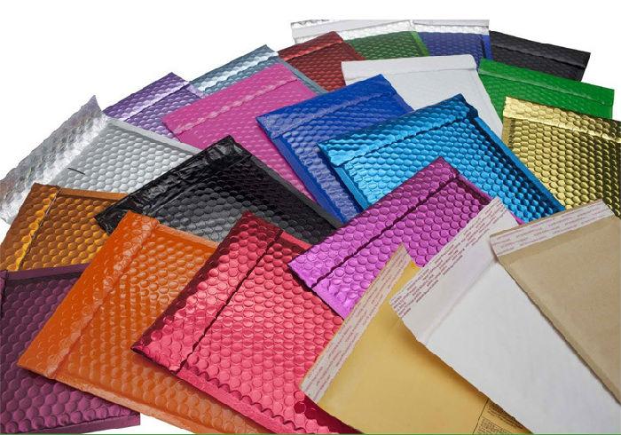 彩色复合镀铝膜气泡袋 电商包装袋快递汽泡袋 服装泡沫信封袋定制;