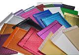 彩色复合镀铝膜气泡袋 电商包装袋快递汽泡袋 服装泡沫信封袋定制