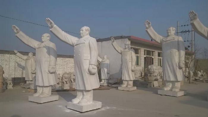 供应汉白玉名人雕像 毛主席坐雕像 毛主席挥手像