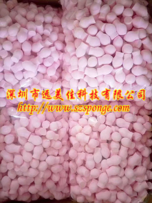 广东蘑菇头海绵粉扑 非乳胶水滴形海绵粉扑 深圳远美佳首选;