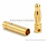 4.0mm航模模型电机电调纯铜镀金香蕉插头;