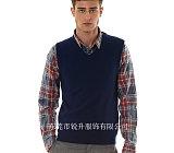 大朗男士羊绒针织衫背心加工 男款商务背心生产;