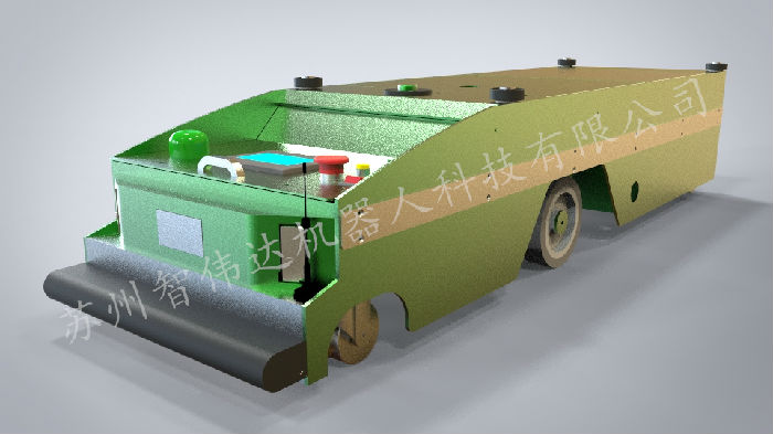 智能工厂无轨搬运AGV小车;