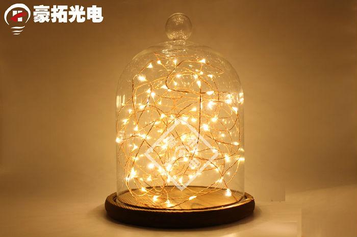 LED铜线创意房间小彩灯闪灯串灯满天星星灯布置装饰婚庆灯泡防水;
