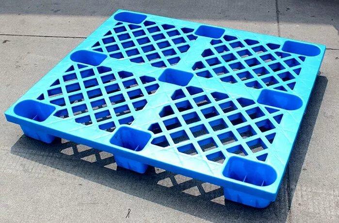 环保九脚网格塑料托盘;