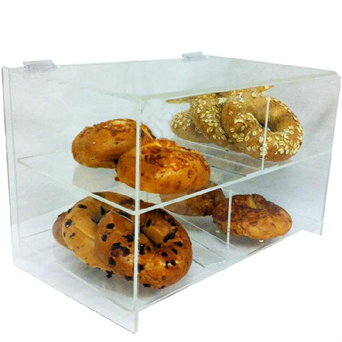 厂家定制亚克力面包 蛋糕展示盒子 单成多成蛋糕店展示