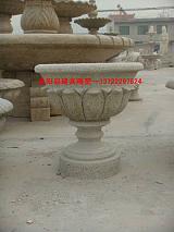 供天然精品石雕花缽花盆;