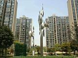 供應不銹鋼小區雕塑 城市園林景觀雕塑 不銹鋼抽象雕塑大型;