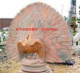 供应各种天然石雕孔雀雕塑厂家;
