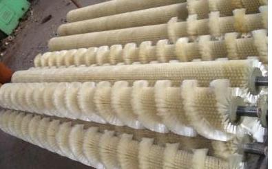 V字型毛刷辊 螺旋型毛刷辊 , 单螺旋毛刷辊规格;