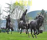 上海制作玻璃钢骏马雕塑 玻璃钢仿真动物雕塑 专业加工;