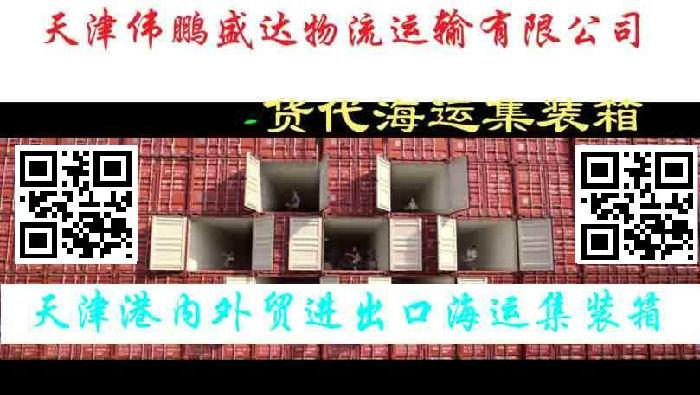 天津伟鹏盛达海运集装箱货代箱代国内沿海地区门到门;