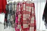 针织格子围巾毛衣披肩;
