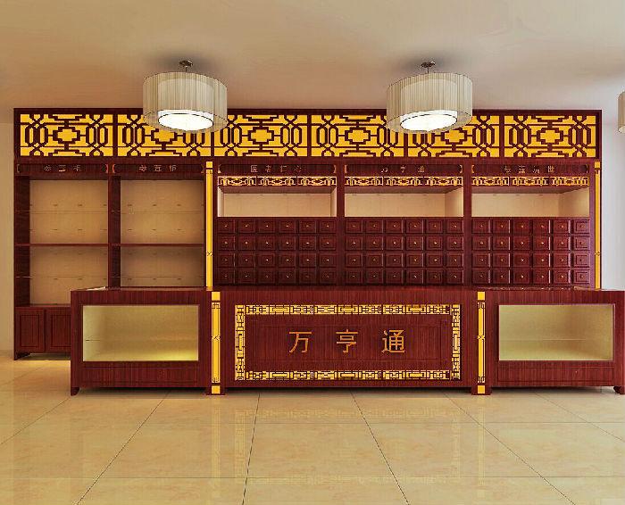 厂家直销实木药柜,免费设计整体药房;