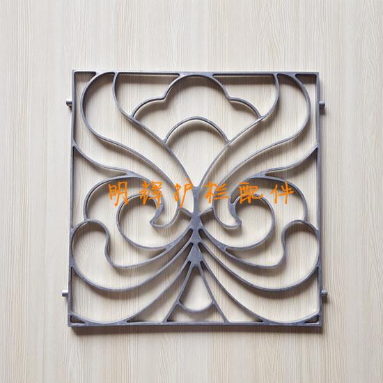 花园别墅围栏护栏配件 铝合金护栏配件--600*600如意花;