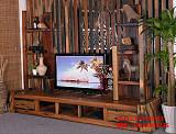 老船木家具船木電視柜收納抽屜柜儲物落地柜實木電視柜視聽柜家用;