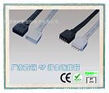 批量直销LED七彩灯带四线插头 4P连接端子线插头 RGB灯带连接插头;