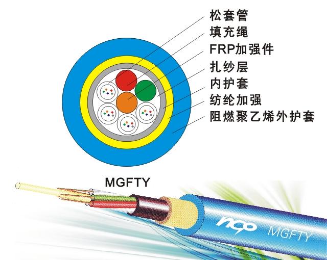 MGFTY非金属阻燃矿用光缆厂家直销;