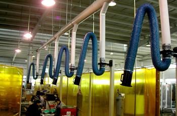 山西焊接培训中心多工位通风系统;