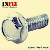 六角法兰螺栓DIN6921法兰面螺丝4.8-8.8级-英菲螺丝厂