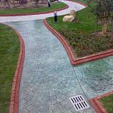 混凝土壓花地坪,複古彩色花紋地坪,壓模地坪廠家-上海黃池彩坪;