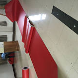 厂家供应乒乓球室内用胶地板 红色pvc胶地板