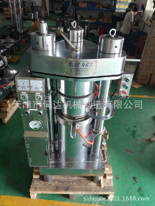冷榨亚麻籽油榨油机全自动液压榨油机韩国进口商用新型榨油机;