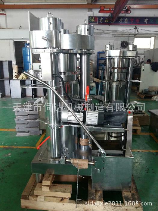 小型商用榨油机成套设备韩国进口全自动立式液压榨油机;