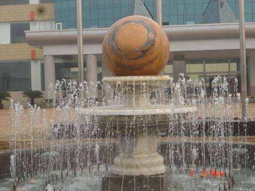 天津雕塑水景风水球砂岩石雕雕塑 树脂玻璃钢雕塑;