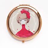 供应随身便携折叠化妆镜 美女美容小镜子