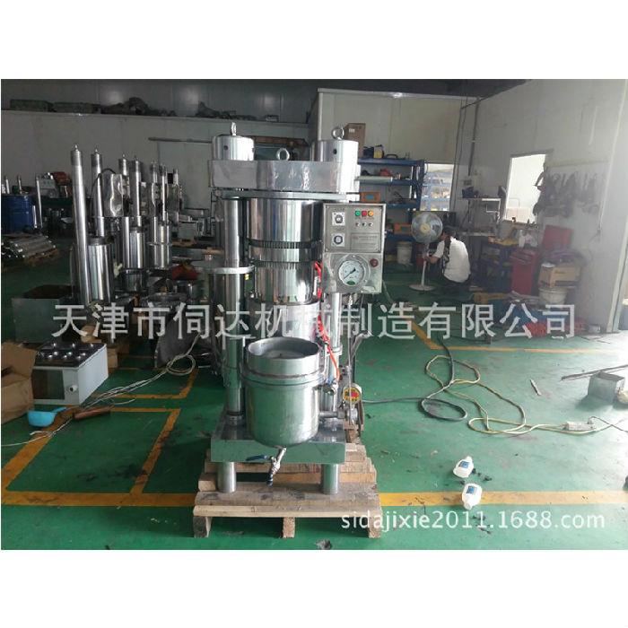 核桃油的主要功效进口液压韩国哈那牌液压榨油机全自动商用大型压榨机;
